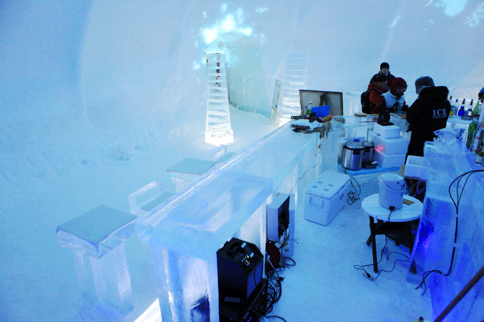 Ice bar stereo systems