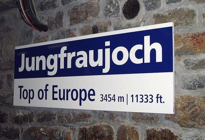 Jungfraujoch-Top of Europe station
